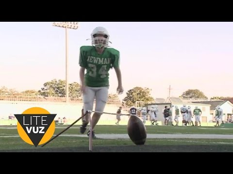 12-year-old girl is football team's newest kicker