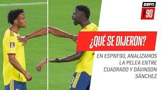 Tras el gol de Argentina, ¿Cuál fue el reclamo que le hizo #Cuadrado a Dávinson #Sánchez?
