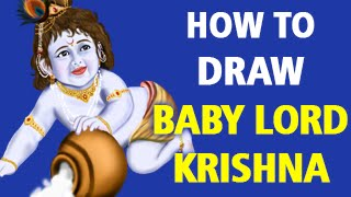 How to Draw Baby Lord Krishna [Speed Painting]