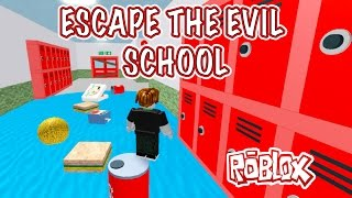 ESCAPE THE EVIL SCHOOL ROBLOX KID GAMING FREE lets play