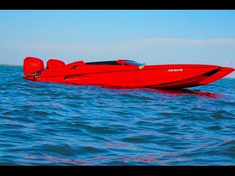 Hustler Talon Ferrari Boat 2014 LOTO Poker Run Shootout.