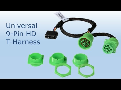 How to Install Geotab Universal 9-Pin Heavy Duty T-Harness