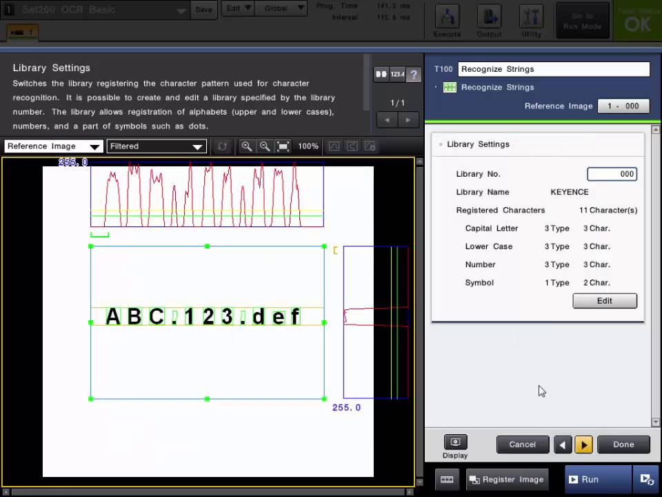 CV-X Machine Vision System: OCR Tool (Optical Character Recognition)