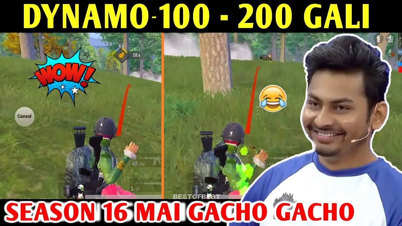 DYNAMO - 100 - 200 GALI | PUBG MOBILE | BEST OF BEST