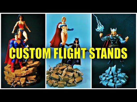 Custom Action Figure Flight Stands for Marvel Legends, DC Universe & More!