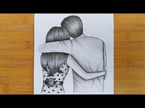 how-to-draw-romantic-couple-with-pencil-sketch-step-by-step