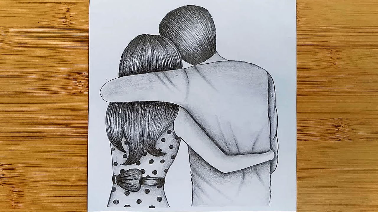 Pencil Amazing Sketch Drawing Love Birds | Decoromah