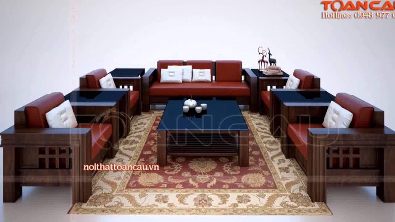 Mẫu Ban Ghế Gỗ đẹp Ban Ghế Sofa Gỗ Cho Phong Khach Youtube