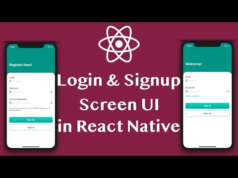 Login & Signup Screen UI Design Tutorial in React Native