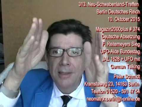 313. Neuschwabenlandtreffen Peter Schmidt Magazin2000plus JAL1628+German-UFO Reitemeyers Sieg