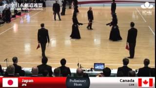 (JPN)Japan (10)5 - 0(0) Canada(CAN) - 16th World Kendo Championships - Men's Team