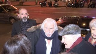 Pierre Richard and Michel Bouquet arriving at Musee Grevin in Paris