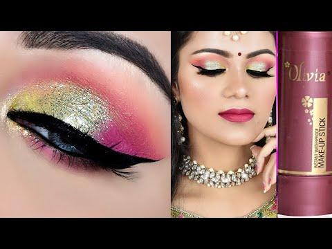 Olivia Pan Stick से कीजिए शादी में मेकअप Indian Wedding Guest Makeup Tutorial in Hindi