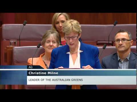 """We will stand with you to kick this mob out"" Christine Milne's Budget reply"