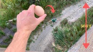 Egg Drop From 50 Feet! Best Egg Drop Ideas!