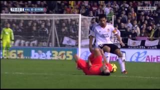 Valencia vs Barcelona 0-1 11/30/2014 Extended Highlights.