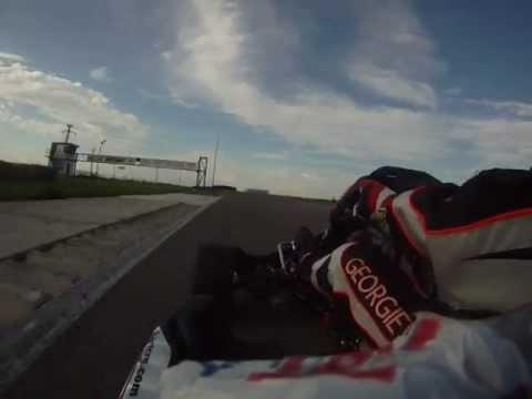 Mishel Georgiev karting KZ2  Romania Bucharest on board cam