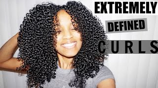shingling method for extremely defined curls all natural hair types