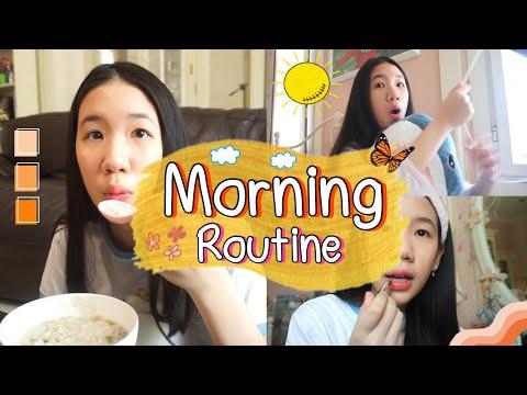 Morning Routine ตอนเช้าทำอะไรบ้าง กักตัวอยู่บ้าน แต่งหน้า ทำอาหารเอง จะรอดมั้ย? [Nonny.com]