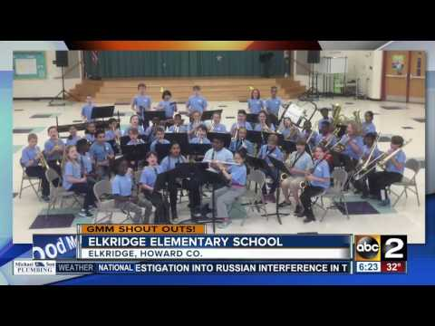 Elkridge Elementary School students give a creative GMM shout out