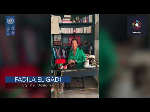 AKID2030 - Message de solidarité de la styliste et designer Mme Fadila El Gadi