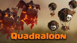 TH9 Air Strategy | Quadraloon (4 Lava Hound w/ Loons) | Clash Of Clans
