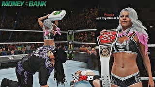 Alexa Bliss Cashes In on Nia Jax vs Ronda Rousey! (WWE 2K18 Money in the Bank 2018 Recreation)