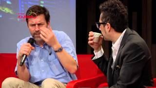 Peter Stamm con Patricio Pron. Hay Festival