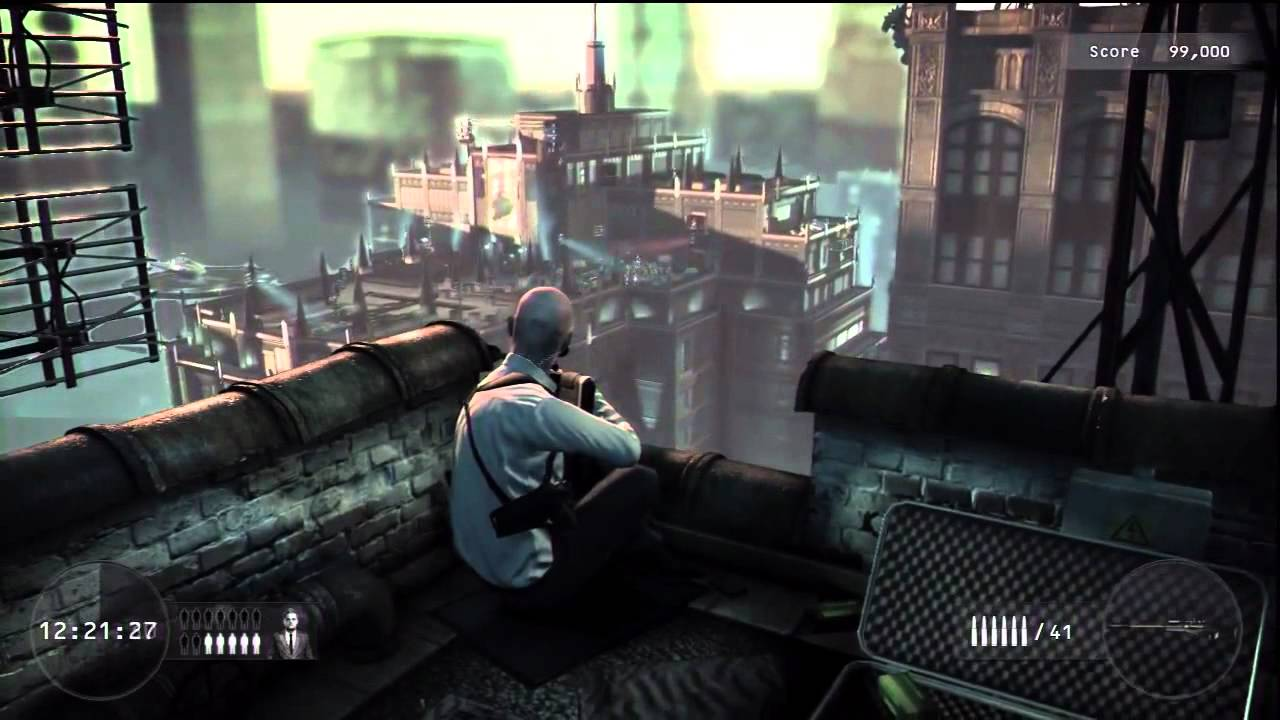 Hitman Absolution Sniper Challange Gameplay Dlc Youtube