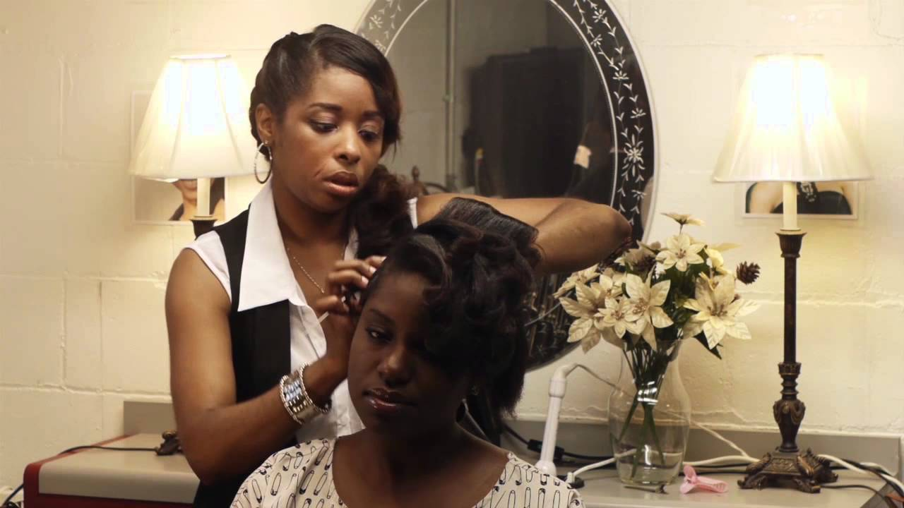 How to Style a Mohawk Hairstyle on AfricanAmerican Females  Styling Black Hair  More  YouTube