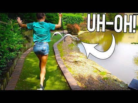 LOSING GOLF BALLS AND WILD SHOTS AT THIS FUN MINI GOLF COURSE!