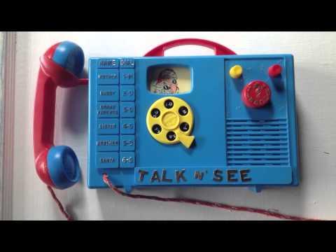 Vintage Ohio art talk n' see wind up musical phone