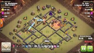 Clash of Clans - Ataques Th9 - Ataques Clan Secret of War .