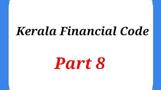 #1_Minute_Learning_With_SS/ Kerala Financial Code Part 8