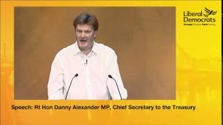 Danny Alexander MP Speech to the Liberal Democrat Autumn Conference 2014