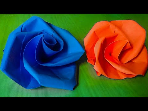 How to Make Beautiful Paper Rose Without Glue ?