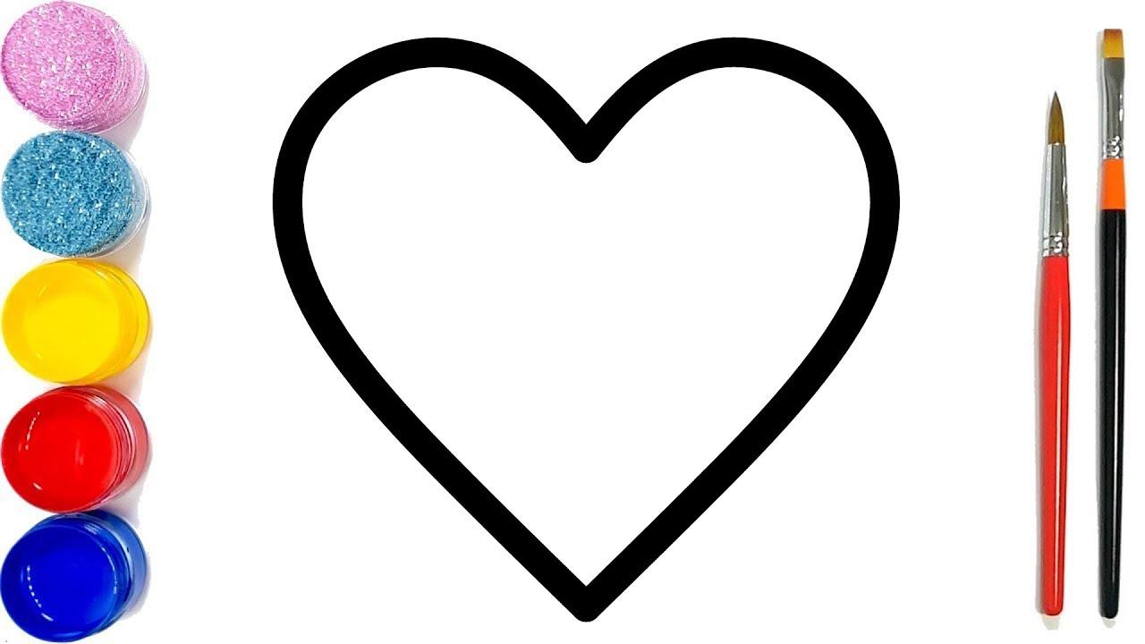 Vẽ và tô màu câu đố hình trái tim cho trẻ em | Cara Menggambar dan Mewarna Mainan hati