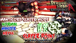 SLayer POint-Manticore Slayer Mode !!Normal,Master,Abyss ! -  Dragon Nest New Update - Lv 95 Sniper