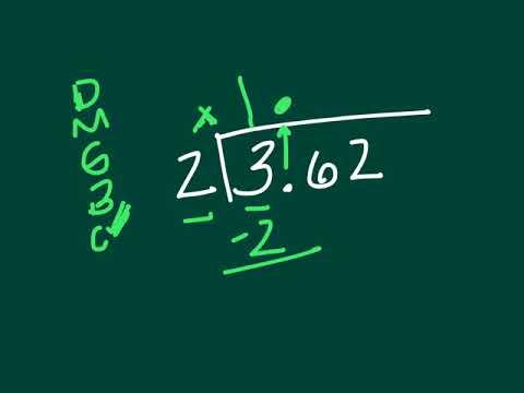 Dividing decimals (standard algorithm)