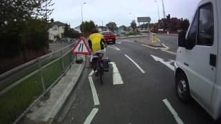 A1214-Sidegate Lane roundabout westbound - alternative approach