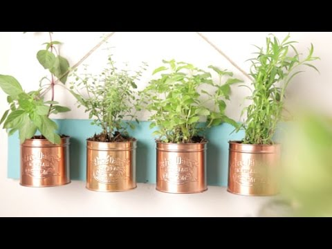 Be Crafty: Tin Can Planters