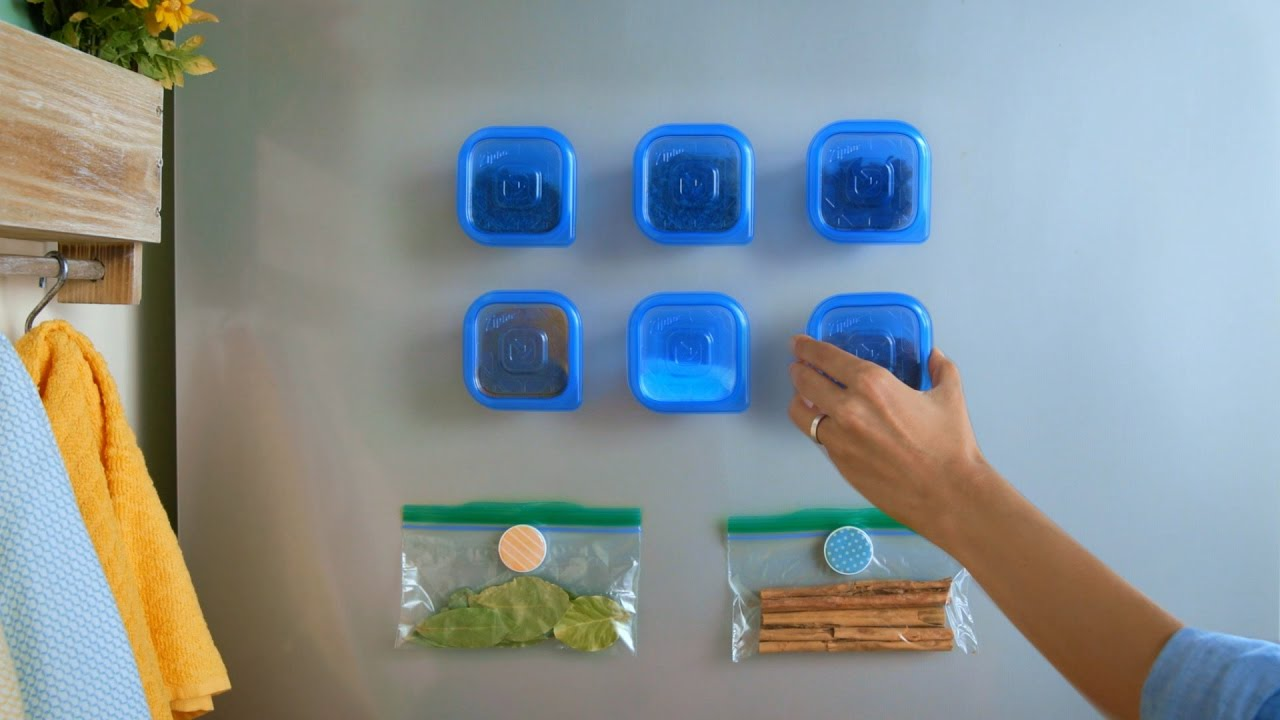De-clutter Your Kitchen with Magnetic Spice Storage Using Ziploc ...