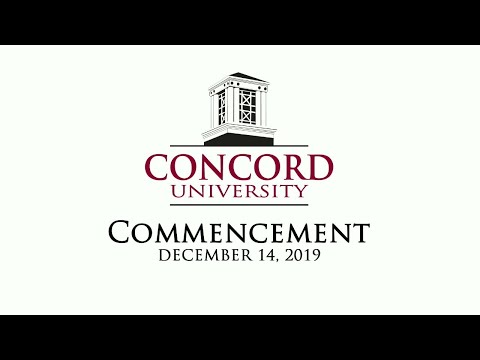 Concord University Fall 2019  Commencement