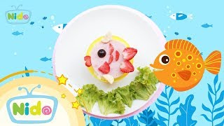 Món ăn ngọt ngào: Hướng Dẫn Làm Bento Hình Con Cá - Cá Ơi Cá À - Bé vào bếp cùng mẹ | Nido Channel