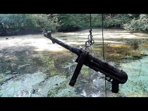 Thumbnail: Magnet fishing WW2. Finding submachine gun MP40.