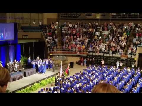 Ocean Springs High School Graduation 2018 - National Anthem