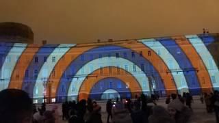Световое шоу на дворцовой площади 2016г Аэрофлот VID 2016 12 29 180159