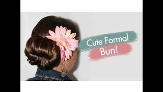 Cute Formal Bun   Updos   Cute Girls Hairstyles