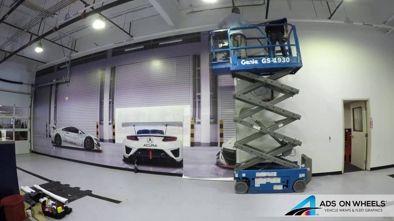 wall mural wrap graphics acura ads on wheels youtube wall mural wrap graphics acura ads on wheels