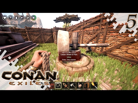CONAN EXILES - Clan, Cave, And Wheel Of Pain! - EP05 (Gameplay)